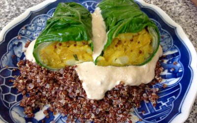 Swiss Chard Rolls Stuffed With Spicy Potatoes Masala