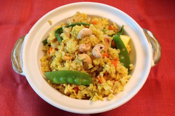 Saffron Brown Rice and Summer Vegetables