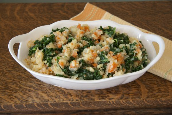 Dutsch Stamppot - Smashed Potatoes and Carrots with Kale or Collard  Greens