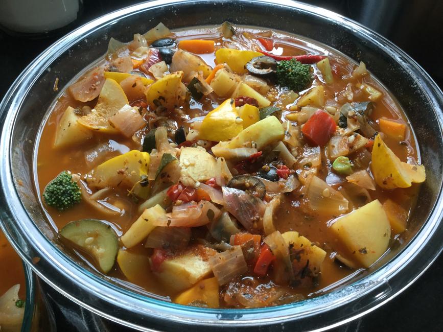 Instant Pot Veggie Stew With Mediterranean Spices