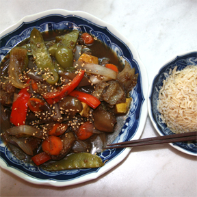 Chinese Sweet & Sour Eggplant