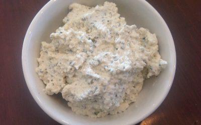 Dairy-Free (Vegan) Basil Ricotta Cheese